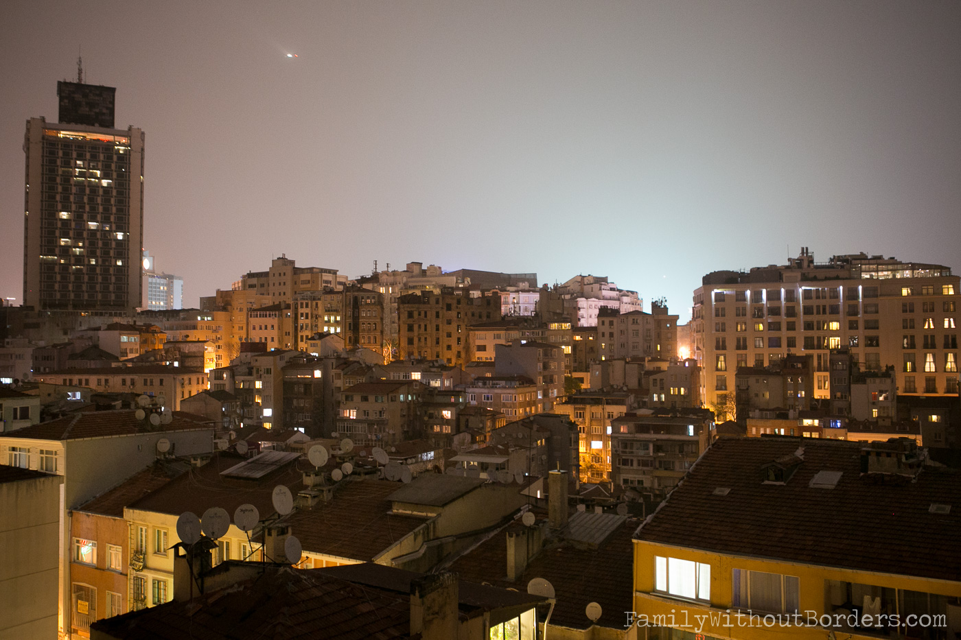 Istanbul at night, Skyline, Houses, (Turkey), Travel, Taksim | The