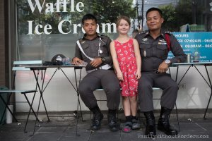 Hanna and the Thai Policemen (Bangkok, Thailand)